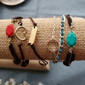 2 Sets Of Bracelets Boho Style Bracelets